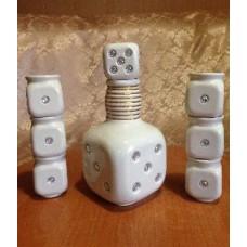 Штоф «Кубик» белые камни
