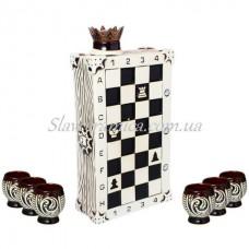 Штоф «Шахматы» шамот черный