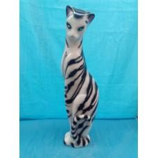 Копилка Багира глянец бело-тигровая