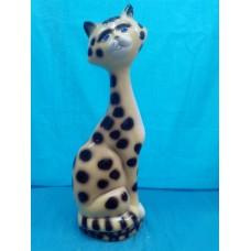 Копилка Кот на камнях  глянец светлый леопард