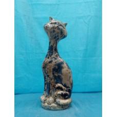 Копилка Кот на камнях малый галактика светлый кобольт