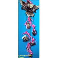 Оберег Голубь+6пр+цветы (глазурь)