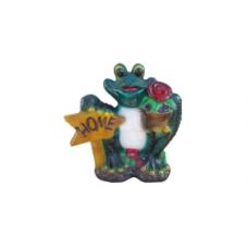 Жаба с цветком сад