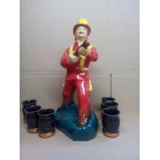 Штоф Пожарник 0,5 л (черный или красный)
