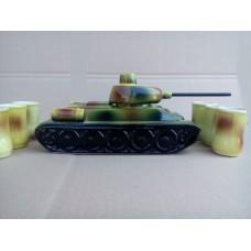 Штоф танк 1 л  (возможны со Звездами или с Гербами Украины )
