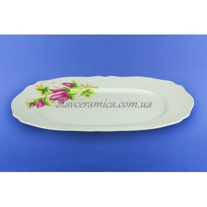 Блюдо №38 белое с деколью, 38 см