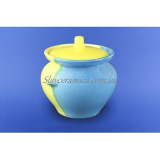 Горшок для жаркого 0,450 л желто-голубой