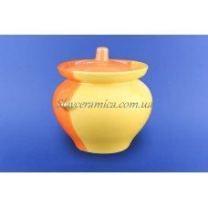 Горшок для жаркого 0,450 л желто-оранжевый