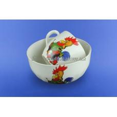 Набор детский с деколью Петушок из 2х предметов: чашка и салатник