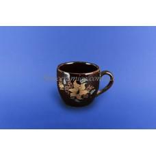 """Чашка """"Одесса"""" 0,210 л коричневая с деколью"""