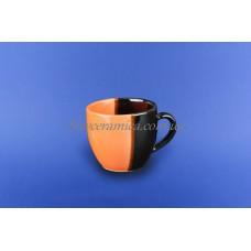 "Чашка ""Одесса"" 0,210 л оранжево-коричневая"