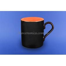 """Чашка """"Офисная"""" 0,400 л коричневая 2 оранжевая"""