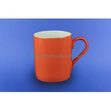 """Чашка """"Офисная"""" 0,400 л оранжевая 2 белая"""