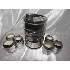 Штоф+6 рюмок Огнеопасно(серебро,золото)