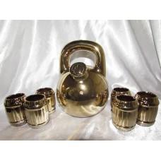 Штоф Гиря золото,серебро + 6 рюмок