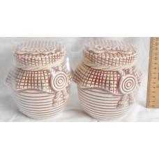 Баночки соль-сахар (2 предм.) 14 см