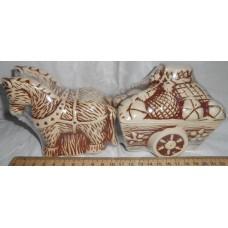 солонки (3 предмета) кони 10 см