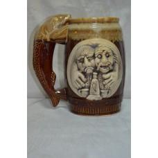 Бокал для пива Кум большой коричневый